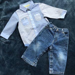 Other - Shirt & Jeans Bundle 8-12 Months